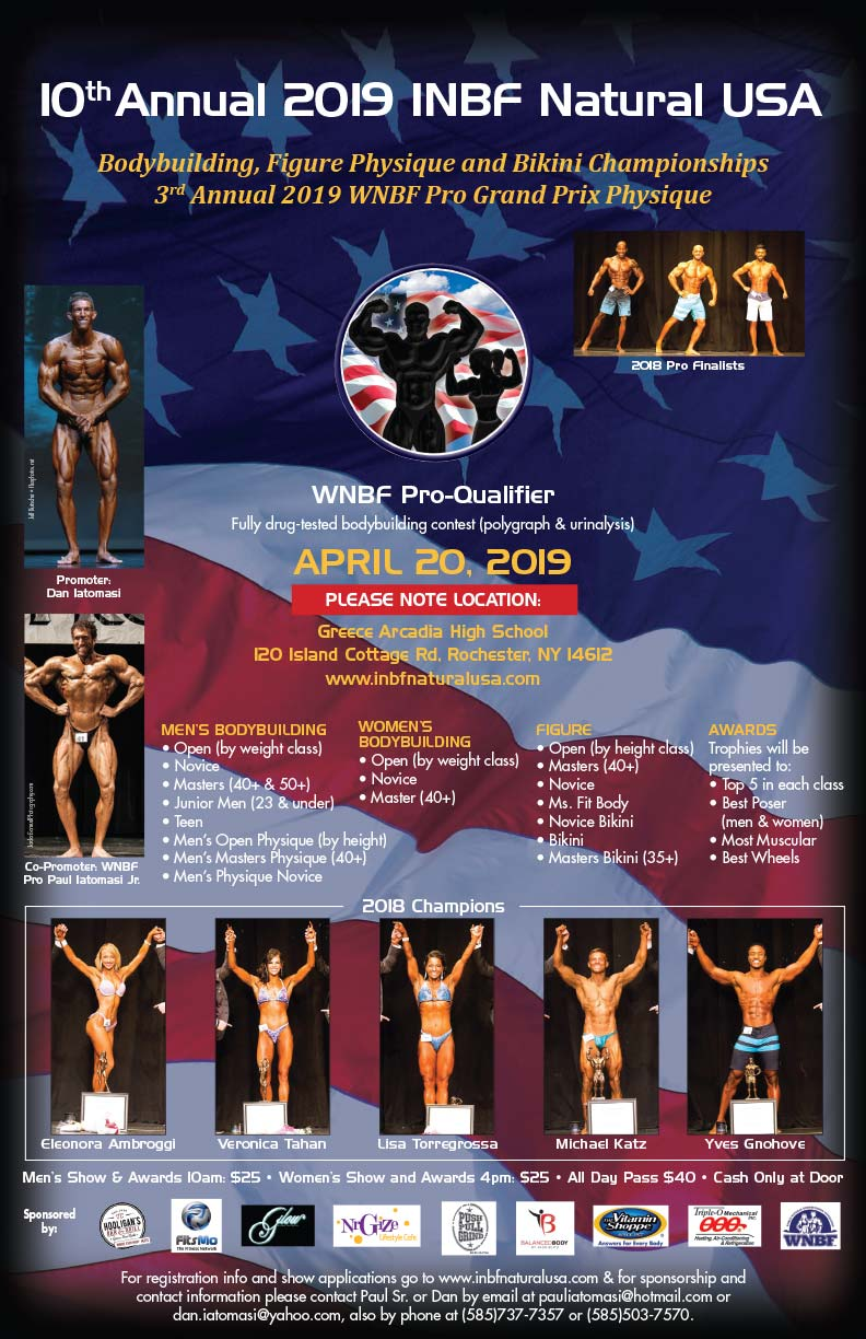 2019 INBF Natural USA Bodybuilding Contest