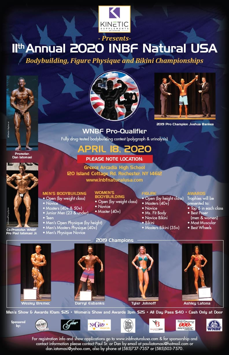 2020 INBF Natural USA Bodybuilding Contest